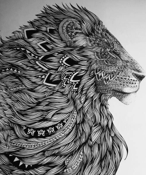 Lion King Of The Jungle Tattoo Ideas Fierce Black And White