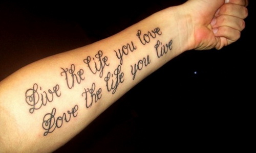 Lettering Arm Tattoos Tattoo Ideas Mag